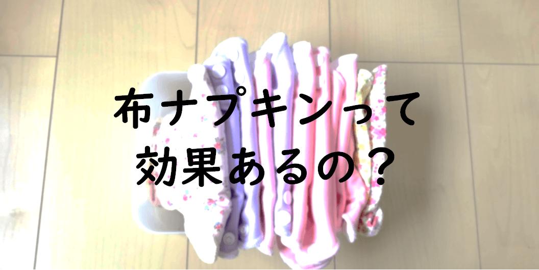 布ナプキンの効果はあるのか