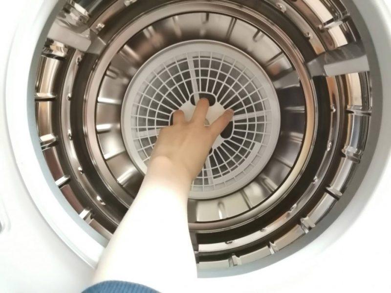マイウェーブ衣類乾燥機のフィルター掃除