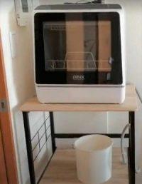食洗機の排水をバケツでする場合の設置