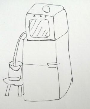 食洗機の排水をバケツでする場合の例