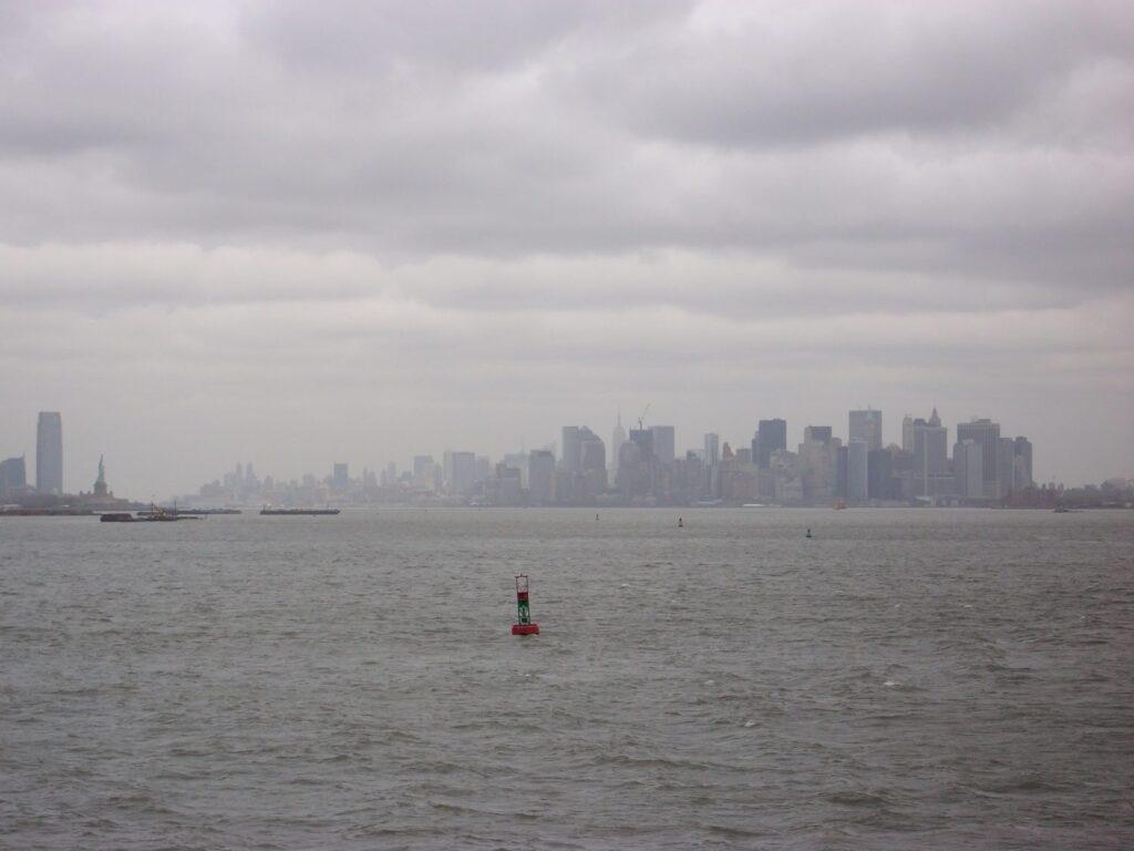 悪天候のニューヨーク